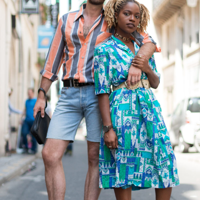 Kilo Shop look couple vintage style friperie